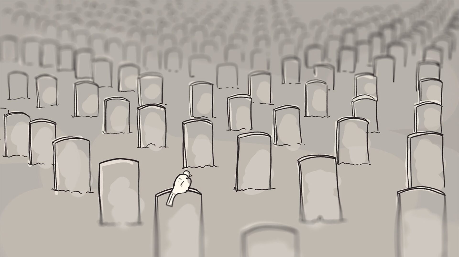Qpr About Suicide Animatic Cemetery Treatment Creative Work